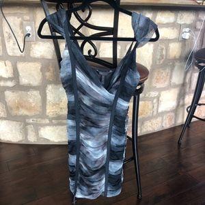 BCBGMaxAzria Black, White and Gray dress